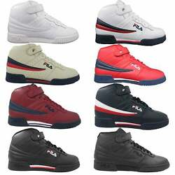 Fila Mens F13 F 13 Leather High Mid Top Casual Classic Basketball Shoes