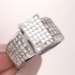 2.30ct Princess Cut Diamond Right-hand Ring In 14k White Gold