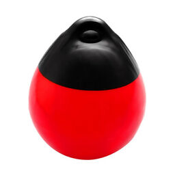 Marine Yacht Fender Premium Pvc Bumper Dock Shield Protection Black And Red