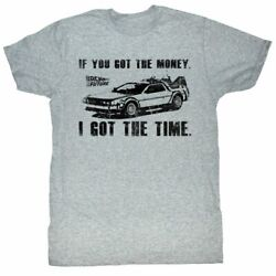 Back To The Future Got The Money Gray Adult T-shirt