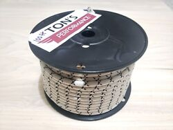 100ft Roll 7mm Woven Braided Cloth Vintage White Black Tracers Spark Plug Wire