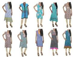 Indian 100 Cotton Casual Top Tunic Assorted Color Womenand039s Nice Kurti 10 Pc Lot
