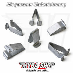 10x Metal Mounting Clips Interior Trim for VW Skoda Seat Audi 4A0867276