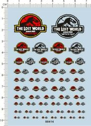 decals Dinosaur for different scales model kits 00414 $5.99