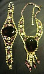 Magical Juliana Delizza And Elster Book Set Amethyst Oval Necklace And Bracelet Set