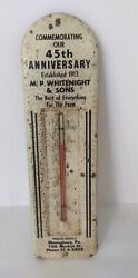 Vintage Advertising Thermometer Bloomsburg Pa Wightenight Farm Store