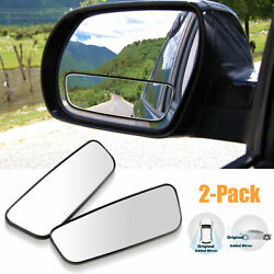 2x 360° Stick on Rear View Auxiliary Blind Spot Mirror Wide Angle Car Truck SUV