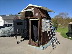 M1102 trailer W Custom Top And Rooftop Tent