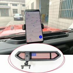 Car Cell Phone Mount Storage Box Holder With Mat For Jeep Wrangler Jl 2018 2019