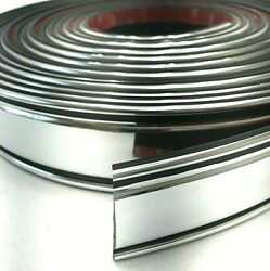 77-87 Chevy Truck Chrome And Black Body Side Molding 34and039 Roll 2-1/4 Tall