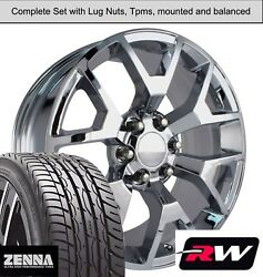 20 X9 Inch Wheels And Tires For Chevy Avalanche Replica 5656 Chrome Rims