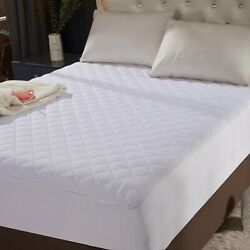 Queen Size Quilted Mattress Protector Pad Topper Cover 16 Deep Fitted Bed Sheet