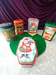 Mid 1960's 70's Christmas Cookie Tins Collectibles Hersey Nestle Mandm More
