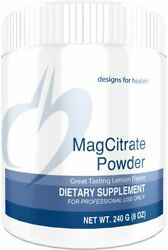 Designs for Health MagCitrate Powder 300mg Magnesium Citrate Powder for Calming