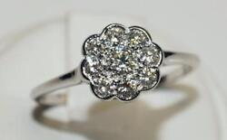 Vintage 18ct White Gold Daisy Cluster Ring. Classical And Timeless Design