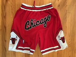 Chicago Bulls Red Throwback Just Don Summer League Time Team Basketball Shorts