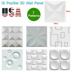 3D Wall Panel DIY Home Wall Sticker Ceiling Tiles Wallpaper Background Decal 12X $28.14