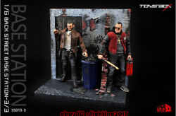 Toys-box The Gang Series Back Street Base Station Model Scene No.3 Resin Painted