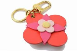 Authentic Louis Vuitton Key Ring Totem Flower Bag Charm Red X Pink M78615 324389