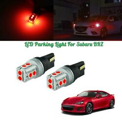 Exact Fit 13-19 Subaru Brz Can-bus Red Parking Lights Led Bulbs Conversiont Kit