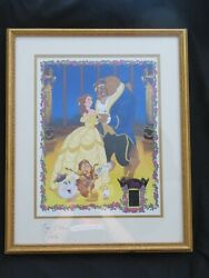 Willitts Disney's Beauty And The Beast Framed Autographed Paige O'hara Belle Art