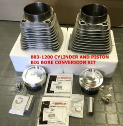 883-1200 Cylinder And Sifton Piston Big Bore Conversion Kit 9.51 Sportster 86-03