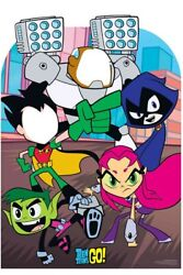 Teen Titans Go Child Size Cardboard Stand-in With Beast Boy, Raven And Starfire