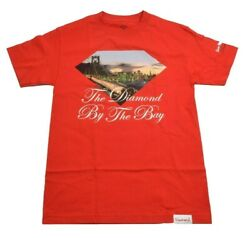 Diamond Supply Co. By The Bay Red White City Bridge Graphic S/s Menand039s T-shirt
