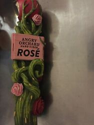 Angry Orchard Rose Tap Handle - Beautiful - Man Cave - Cider