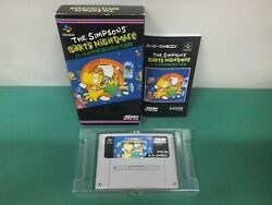 Snes -- The Simpsons Bart's Nightmare -- Boxed Super Famicom Japan Game. 13240