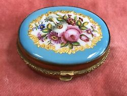 Antique Victorian Perfume Bottle. French Enamel And Ormolu. Rare. 1875.
