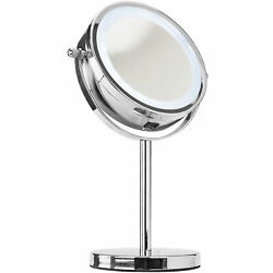 LED Light Cosmetic Makeup Magnifying Vanity Mirror for Bathroom Bedroom Desk Use