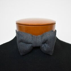 NWT Authentic TOM FORD Dark Gray CASHMERE Blend Pre-Tied Bow Tie