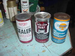 Vintage Tin Can Dupont Kapro And Sta Power Lot Of 3 Full Cans Gas/oil Prop Decor
