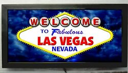 New Led Lighted Welcome To Fabulous Las Vegas Sign Casino Sign Slots Sign