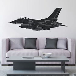 F-16 Fighter Jet Wall Decal Home Decor Art Removable Sticker Us Air Force K757