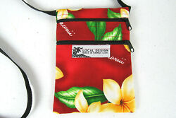 Local Design Made In Hawaii USA Tropical Crossbody Travel Passport Cell Pouch