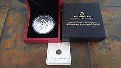 2013 5oz 50 .9999 Silver Coin - 25th Anniversary Of The Silver Maple Leaf