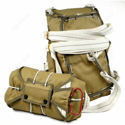 World War Us Army Ww2 Paratrooper Airborne Parachute Backpack T-5 Set Normandy