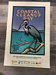 Original California Costal Cleanup Day Poster Christopher Wormell