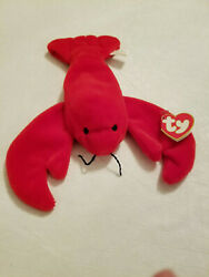 Rare 1993 Pinchers Lobster, Ty Beanie Baby, 1st Generation Tush Tag, Pvc