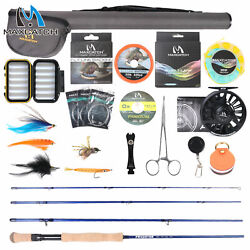 Maxcatch Saltwater Fly Fishing Rod And Reel Combo Full Kit 9ft Complete Outfit