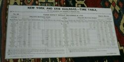 1852 New York And Erie Railroad Employee Timetable -ett - Eastern Division