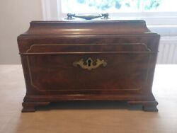 George 11 2nd Period Mahogany And Brass Tea Caddy Chest Manner Of T.landall C.1745