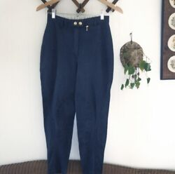 GUCCI Vintage High Rise Cropped Equestrian Trouser Slim Fit Jeans Womens Small $225.00