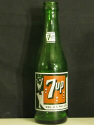 7 Up With Lady Acl Soda Bottle 7oz. 1957  North Kansas City, Mo.