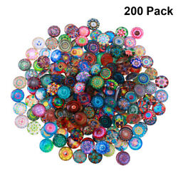 200pcs 12mm Mix Round Mosaic Tiles For Crafts Glass Mosaic Supplies For Jewelry
