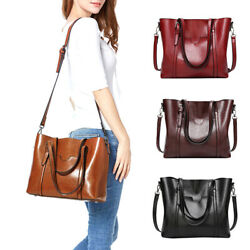 Women Large Retro Handbag Leather Shoulder Bag Hobo Purse Messenger Tote Satchel