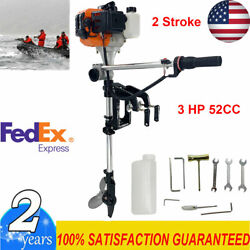 2 Stroke 3hp Outboard Motor Boat Motor 52cc Boat Engine W/air Cooling System Us