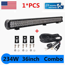 36inch 234w Led Light Bar Combo Beam Work Driving Suv 4wd Truck Car Free Wires